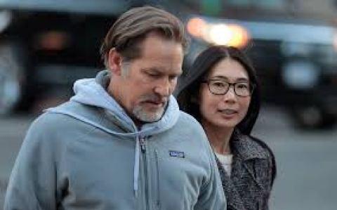 Husband and wife, James and Atsuko.