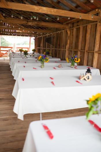 Inside Barn at Dodson Orchards