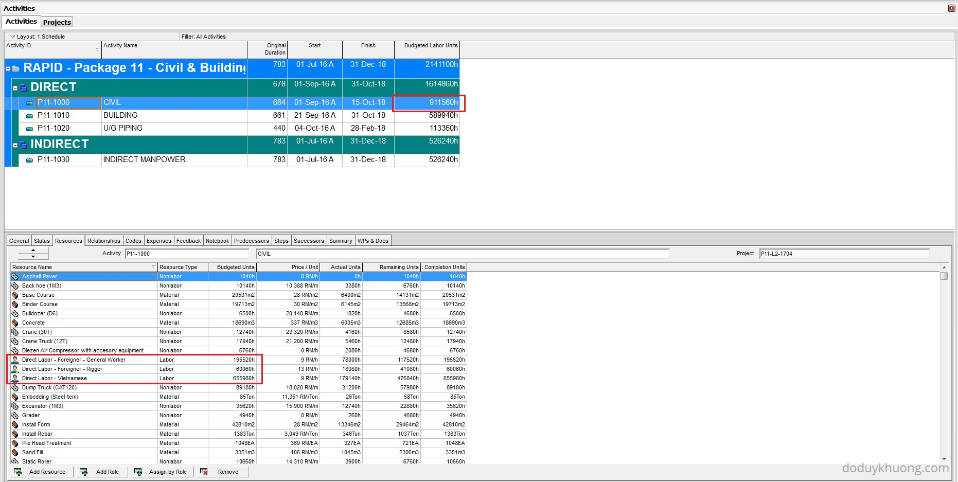 Which Fields can be imported into Primavera P6 from Excel (XLS ...