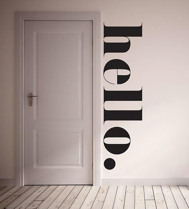 frases na porta tipografia