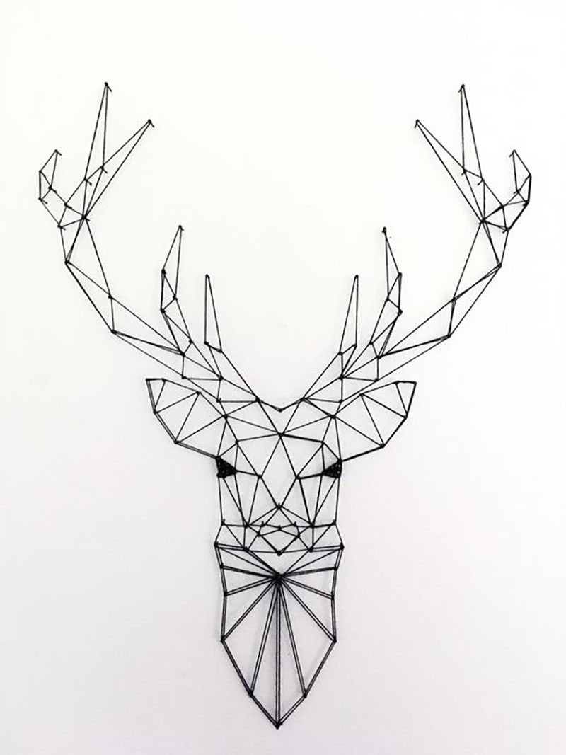 string art veado