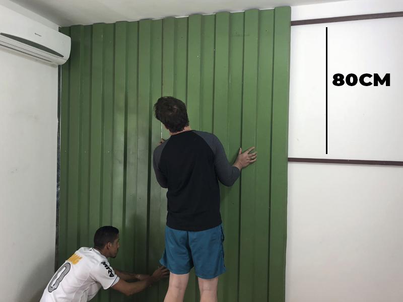 Parede container instalação