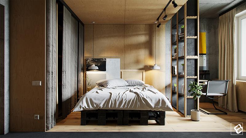Loft industrial quarto