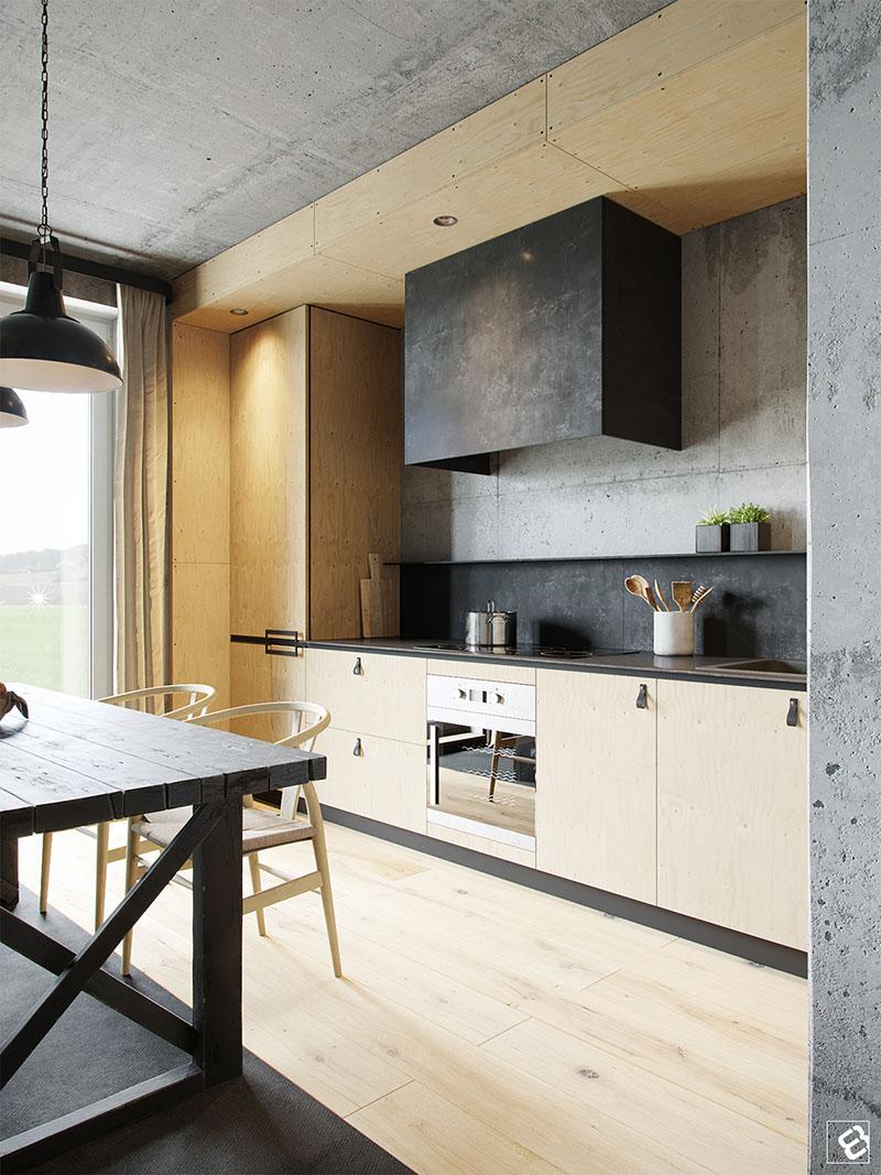 Loft industrial cozinha