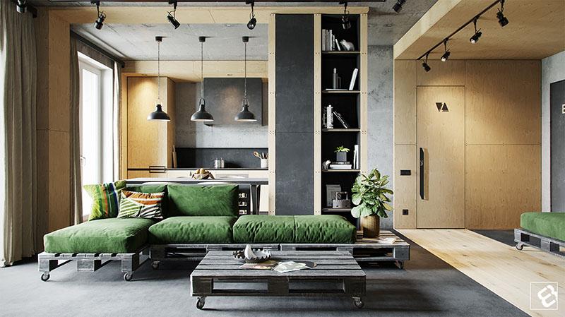 Loft industrial sala
