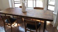 Old Barn Door Kitchen Table. how to build a dining table ...
