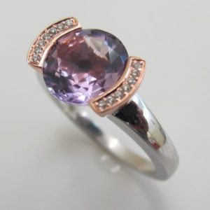 Ring Amethyst oval