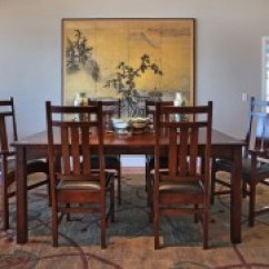 Stickley Leopold Chair For Sale Folding Wood Beach Plans Doerr Furniture Harvey Ellis Dining Table W 2 Arm Chairs 4 Side