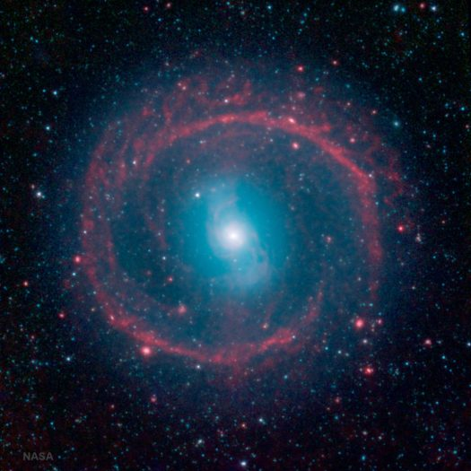 NASA Spitzer Space Telescope Photo of Galaxy NGC 1291