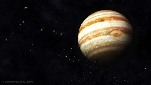 Jupiter And Asteroids