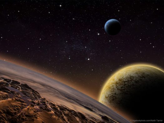 Imagined M Dwarf Exoplanets