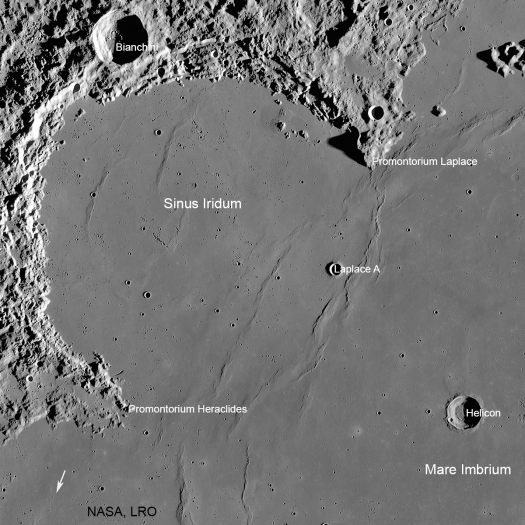 Sinus Iridium on the Moon