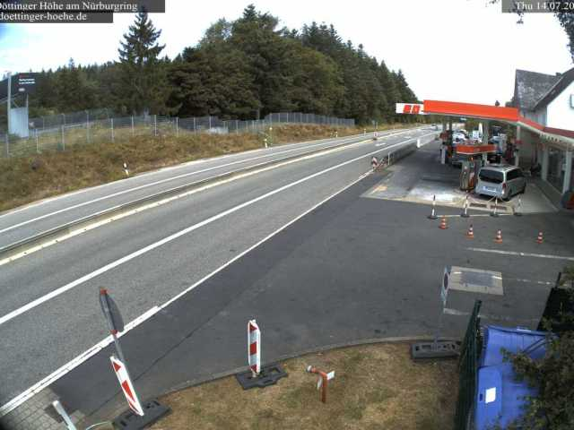 Live Nürburgring Nordschleife webcam ED tankstelle