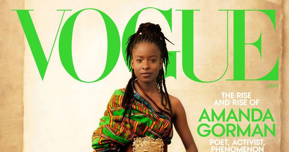 Et Amanda Gorman pose en une de Vogue