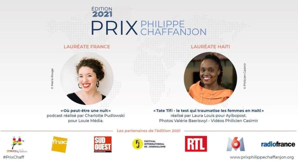 Laura Louis et Charlotte Pudlowski, Prix Phillipe Chaffanjon 2021