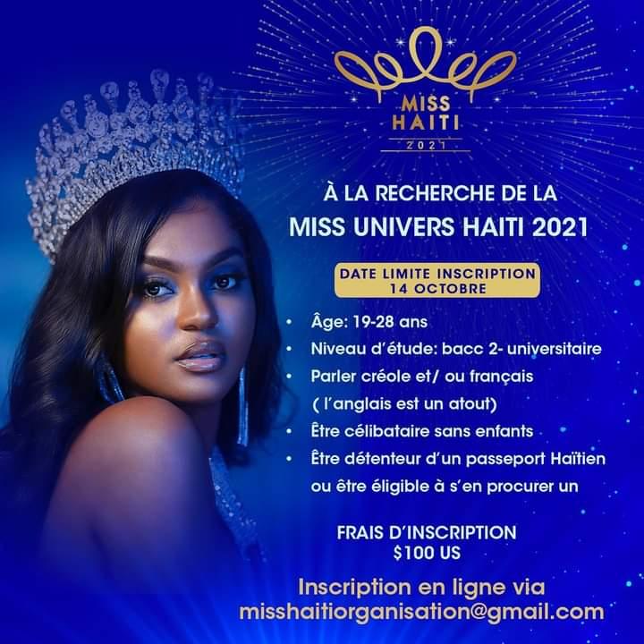 Miss Haïti 2021 est pour bientôt