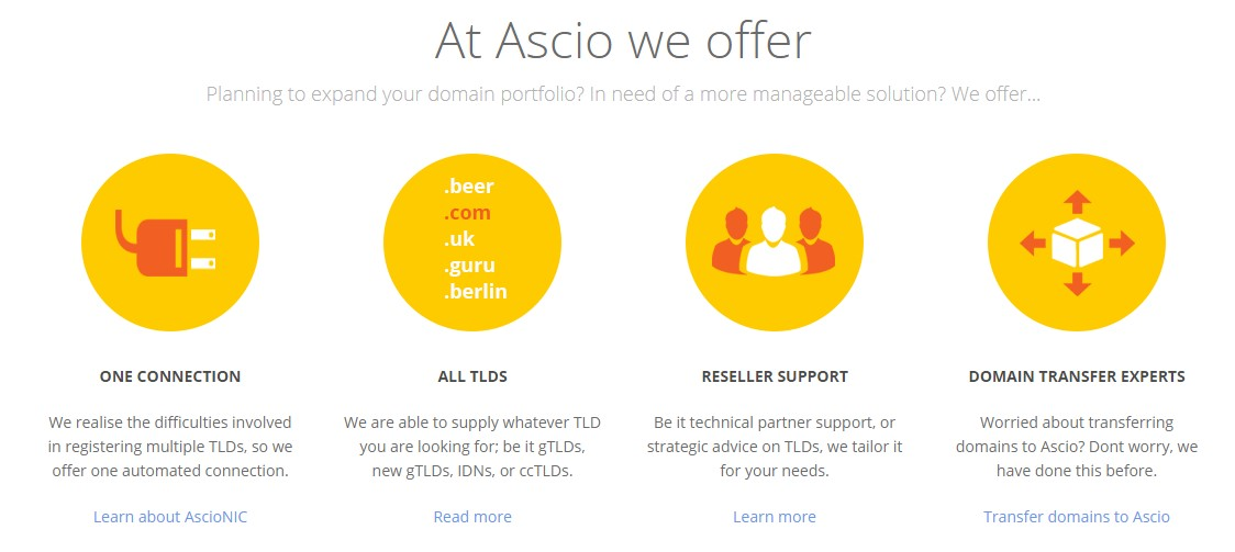 Ascio claims that it offers all TLDs.