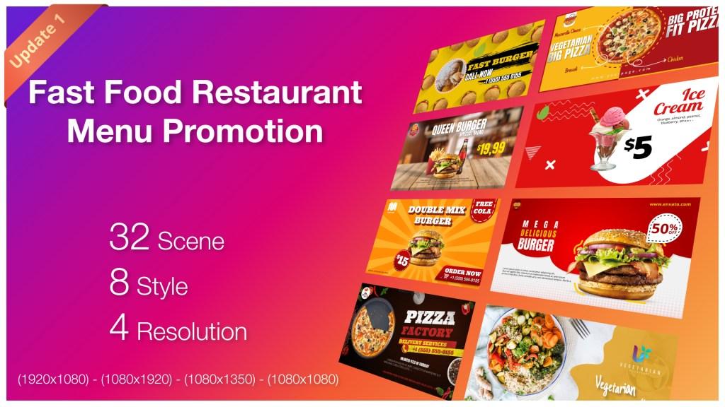 Fast Food Restaurant Menu Promotion