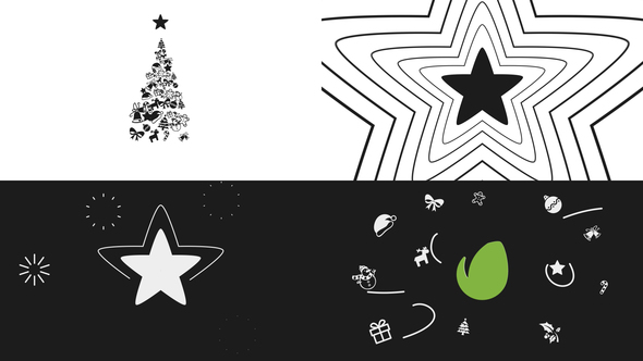minimal christmas logo after effects template