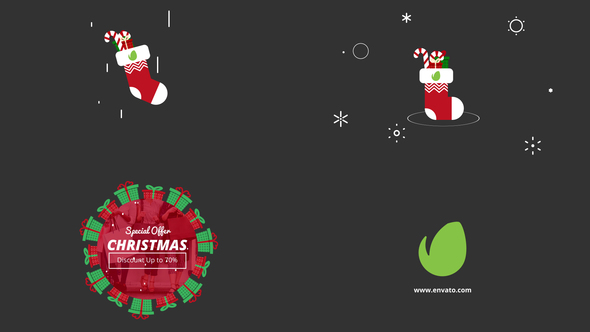 minimal xmas logo after effects template