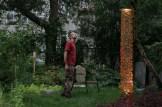 Fabrice in Trevor's yard