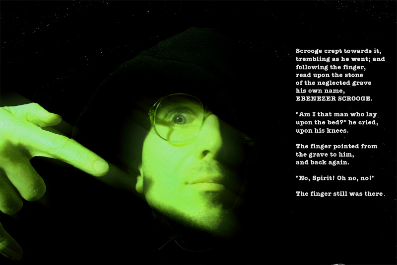 A podcast about movie making and the scifi featurette, Daughter of God, with Director Shri Fugi Spilt, (Dan Kelly). Glasses of grandfather are talismanic. Wearing them in my Christmas Carol themed email blast from 2006