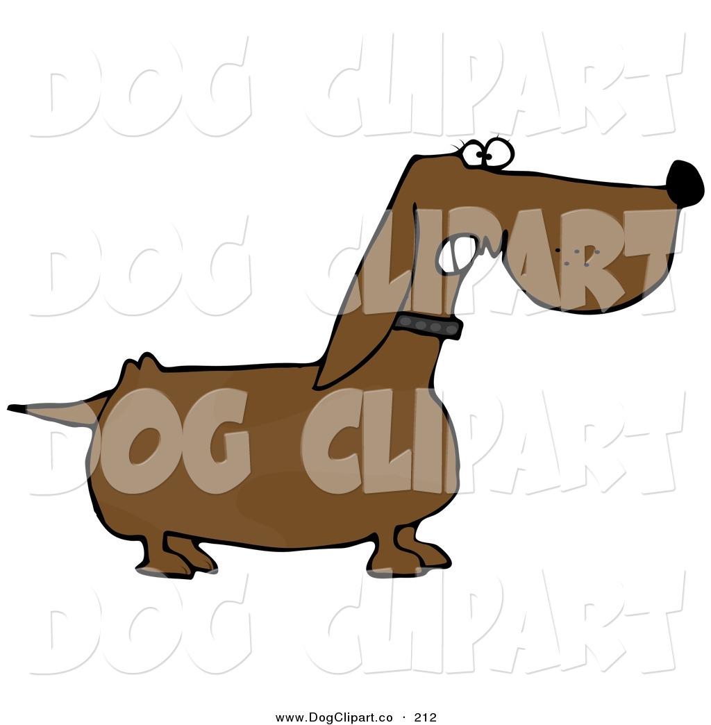 hight resolution of clip art of a mean aggressive wiener dog growling at an intruder
