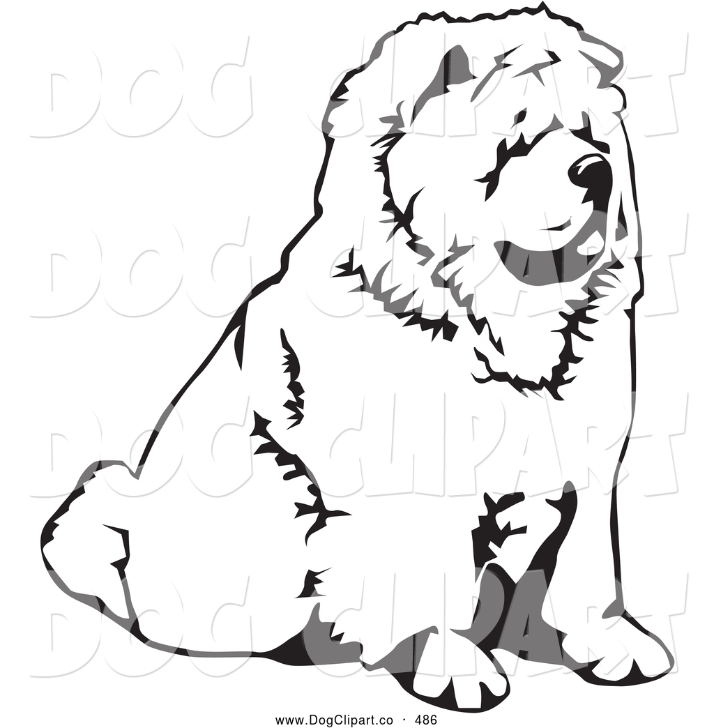 Royalty Free Black And White Stock Dog Designs