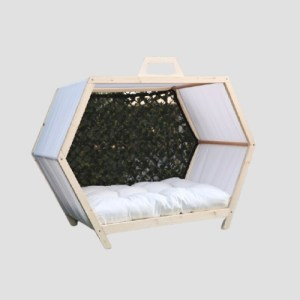 Natural Outdoor Dog House Solid Wooden Crate