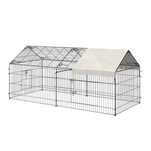 Paw Hut Outdoor Metal Pet Dog Crate with Cover