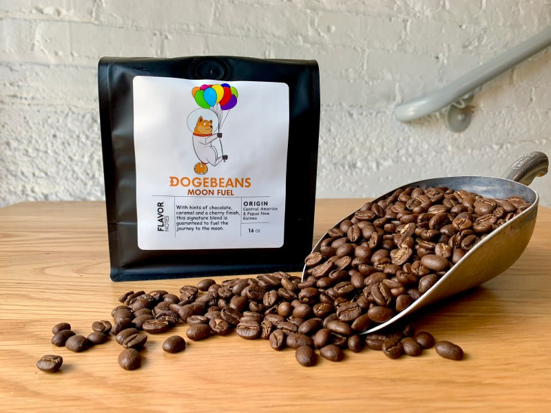 Dogebeans Coffee. Where you can buy coffee with dogecoin and other crypto currency.
