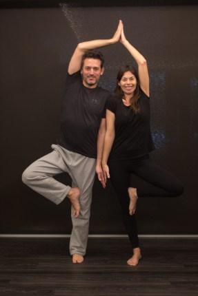 Con mi profesora de yoga.