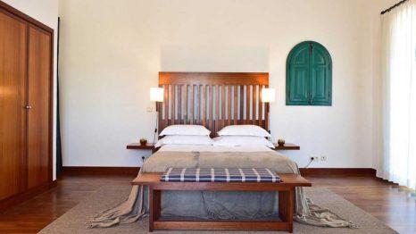 Una de las habitaciones de la Pousada Castelo Alcácer do Sal.
