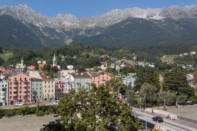 En Innsbruck tenemos nuestra habitación con vistas.