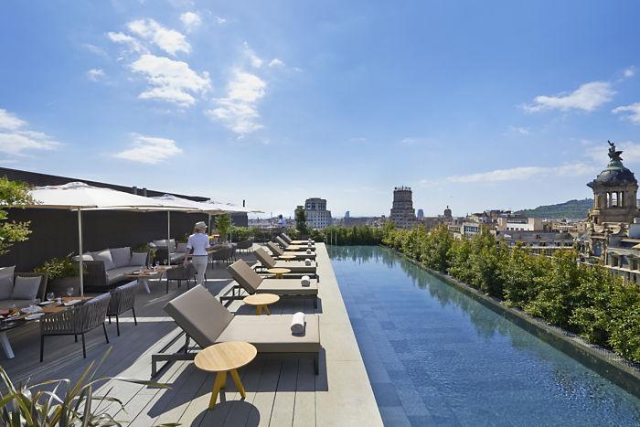 Terrat (terraza) del Mandarin Oriental Barcelona.