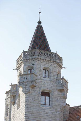 Torreón del Palacio museo Condes Castro de Guimaraes en Cascais.