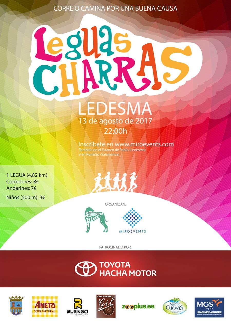 Cartel de la carrera solidaria del próximo 13 de agosto que se celebra en Ledesma (Salamanca).