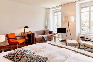 Junior suite con vistas el Rin. Foto: Mark Niedermann