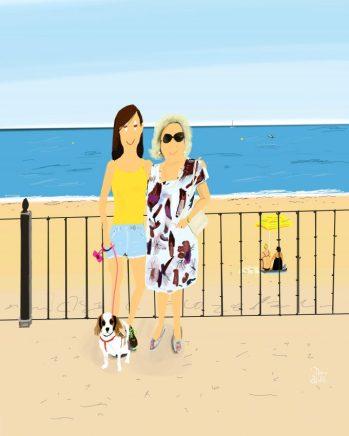 """Por encargo, puedes tener tu propia ilustración (de dos personajes) realizada por Dani Wilde; el reconocido artista dibuja con su iPad obras """"iPaint"""". Son irresistibles. DONATIVO, 110 €."""