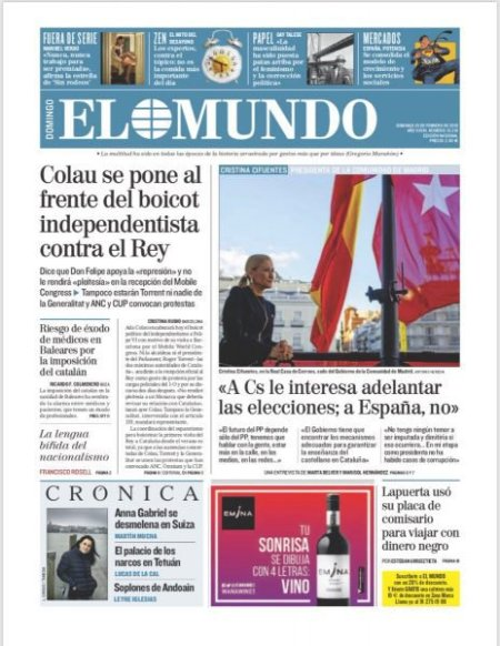 El Mundo 25 de febrero 2018.