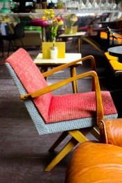 Muebles vintage en el café Pauer & Baier OG.