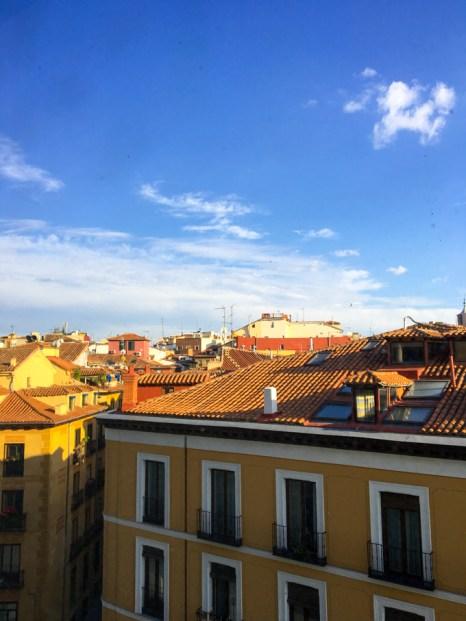 Vistas de los tejados de Madrid desde el Teatro Real.