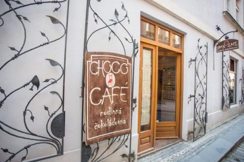 Entrada a la mejor chocolatería de Praga.