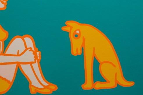 En un perro en la obra de Pavel Brázda.