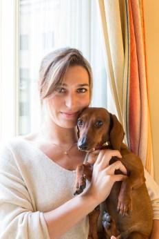 Eros con Eugenia Ortiz Domecq en el RELAIS & CHÂTEAUX HOTEL ORFILA. Foto: David Suárez Fernández.