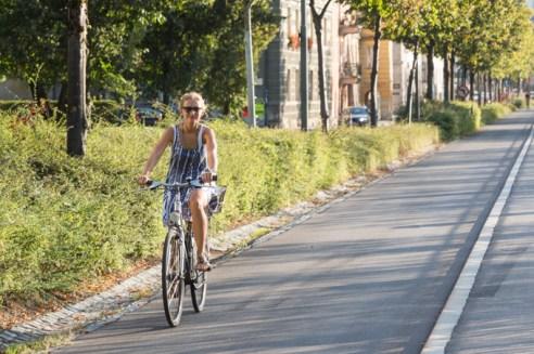 En bicicleta se puede recorrer toda la ciudad.