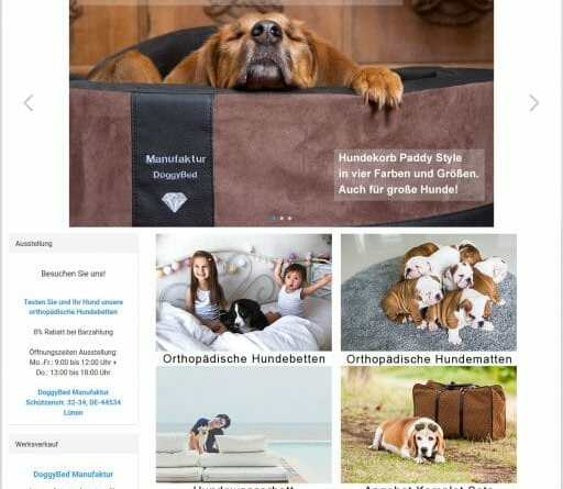 DoggyBed Shop Relaunch