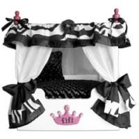 Black Fifi Zebra Canopy Pet Bed