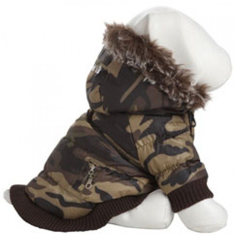 Camo Parka with Hoodie for Dogs