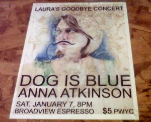 Dog Is Blue live at Broadview Espresso with Anna Atkinson
